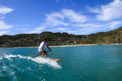 Stand Up Paddle boarding at Wategos Beach
