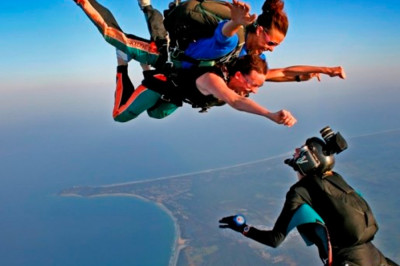 Skydiving over Byron Bay