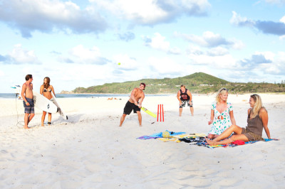 Beach cricket is an Aussie must!