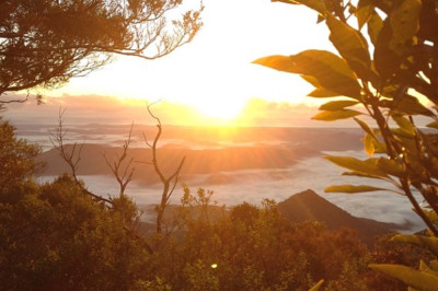 Sunrise at the top of Mount Warning