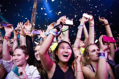 New Years count down at Falls Festival